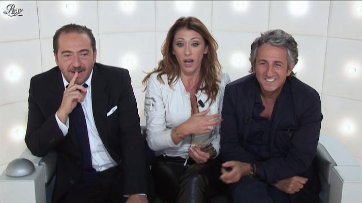 Sabrina Salerno dans le Grand Journal de Canal Plus. Diffusé à la télévision le 04/10/12.