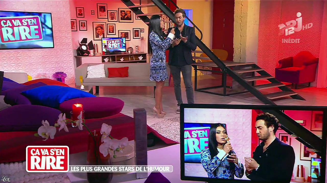 Ayem Nour dans Ça va s en Rire. Diffusé à la télévision le 30/11/13.