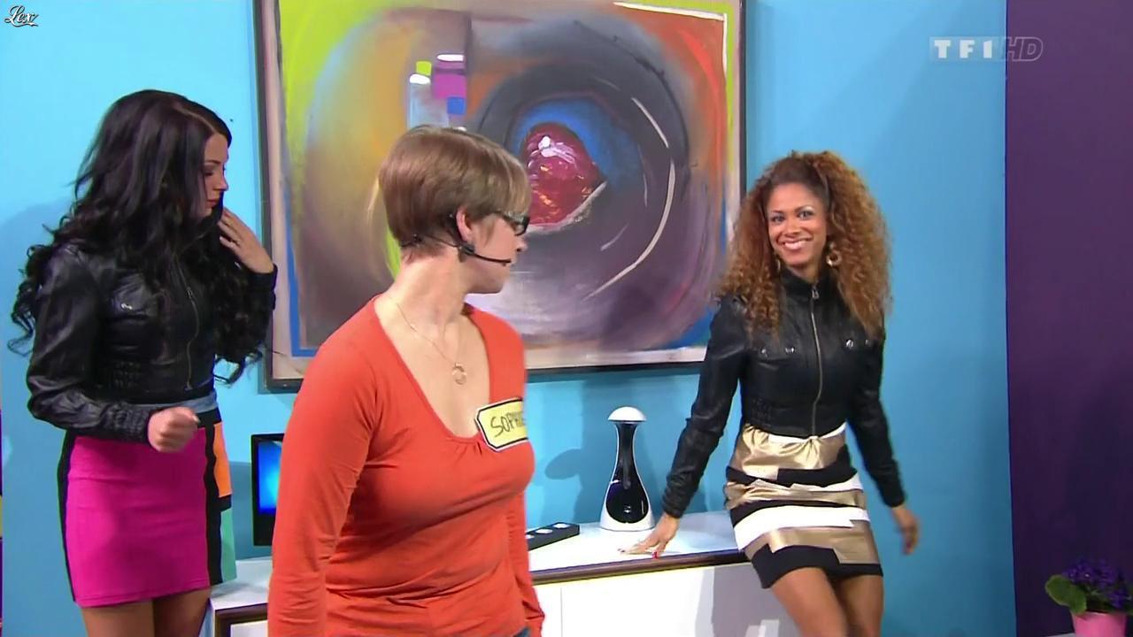 Les Gafettes, Fanny Veyrac et Doris Rouesne dans le Juste Prix. Diffusé à la télévision le 07/01/13.