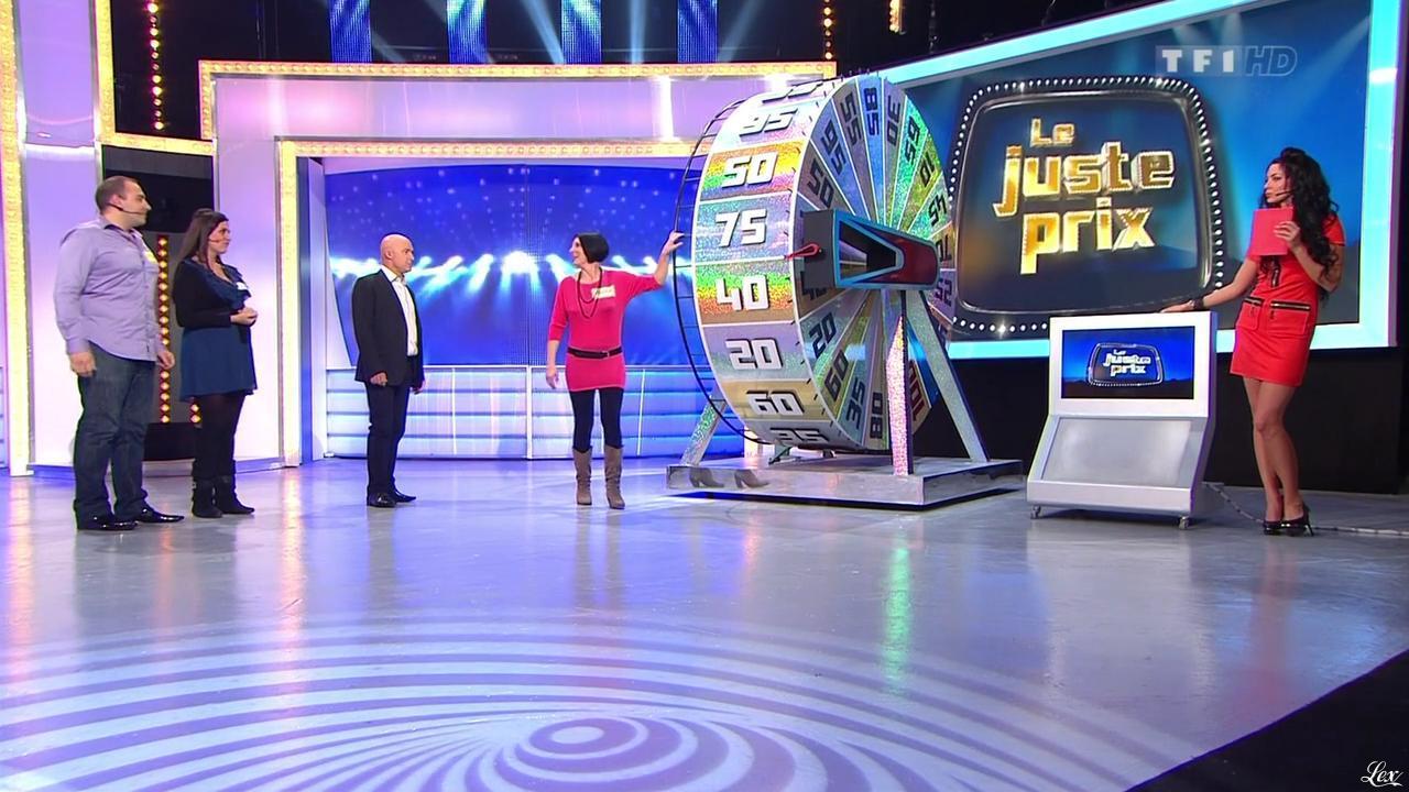 Fanny Veyrac dans le Juste Prix. Diffusé à la télévision le 11/01/13.