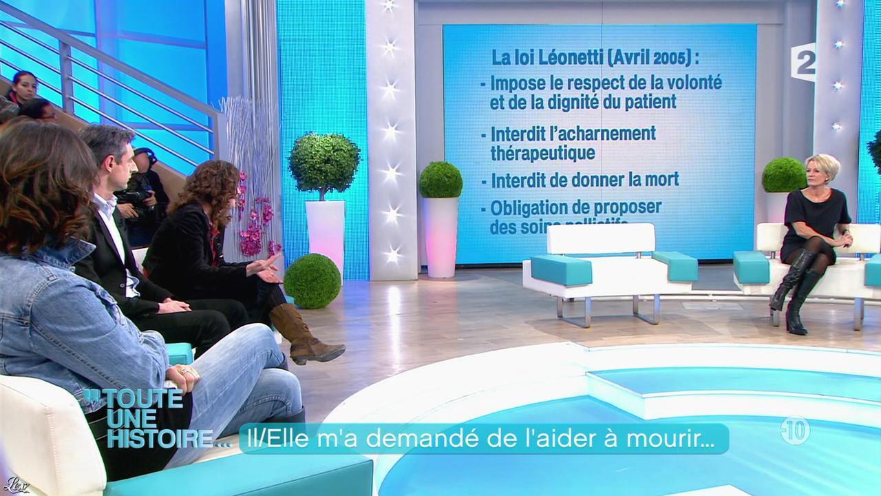 Sophie Davant dans Toute une Histoire. Diffusé à la télévision le 14/03/13.