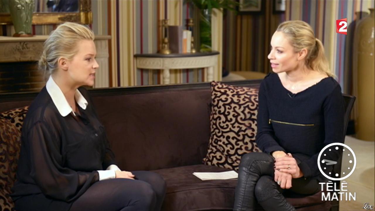 Virginie Efira et Charlotte Bouteloup dans Télématin. Diffusé à la télévision le 25/02/13.