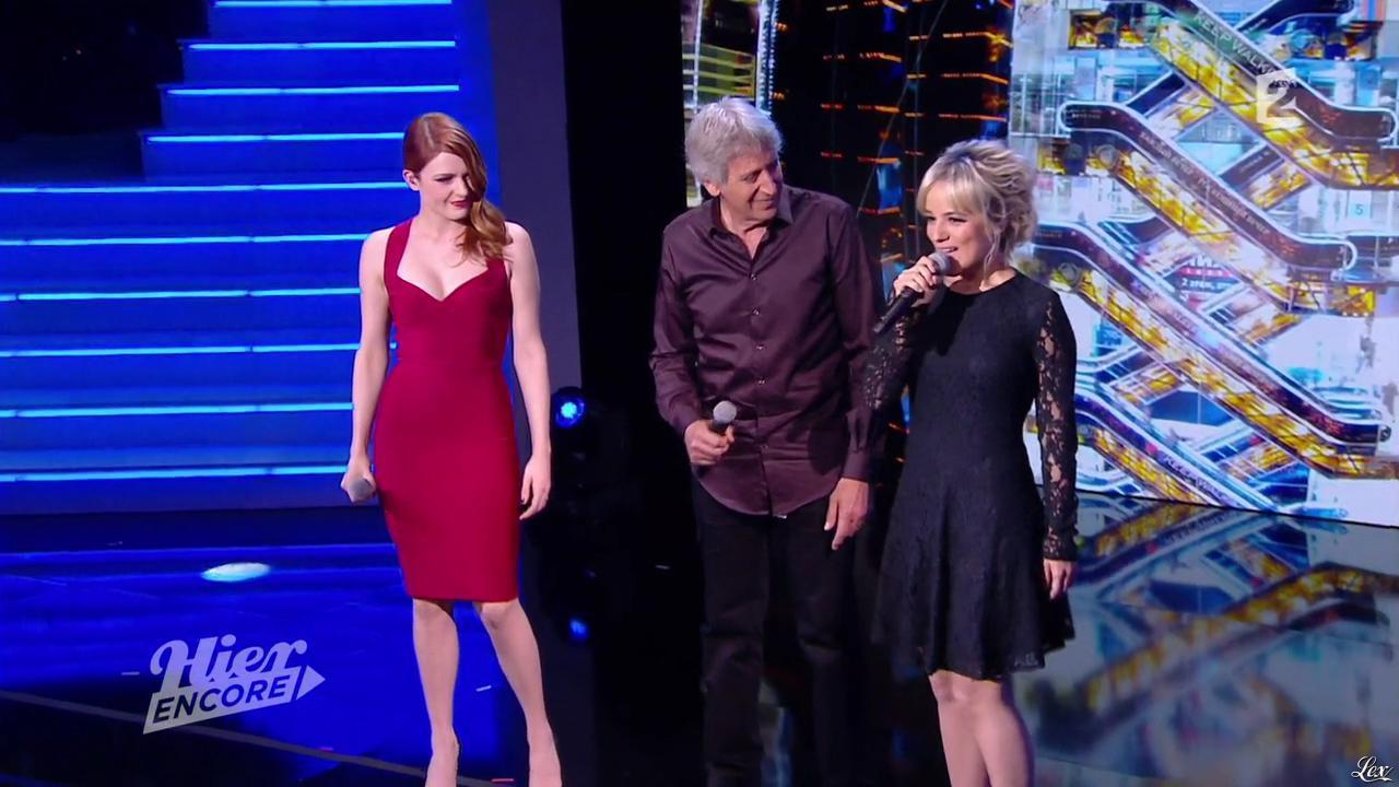Alizée et Elodie Frégé dans Hier Encore. Diffusé à la télévision le 27/09/14.