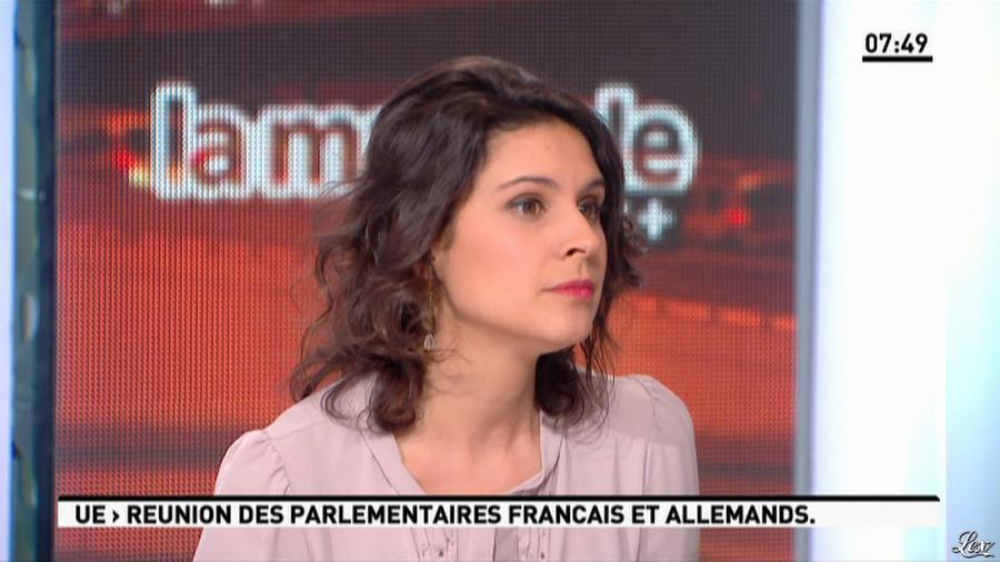 Apolline De Malherbe dans la Matinale. Diffusé à la télévision le 22/01/13.