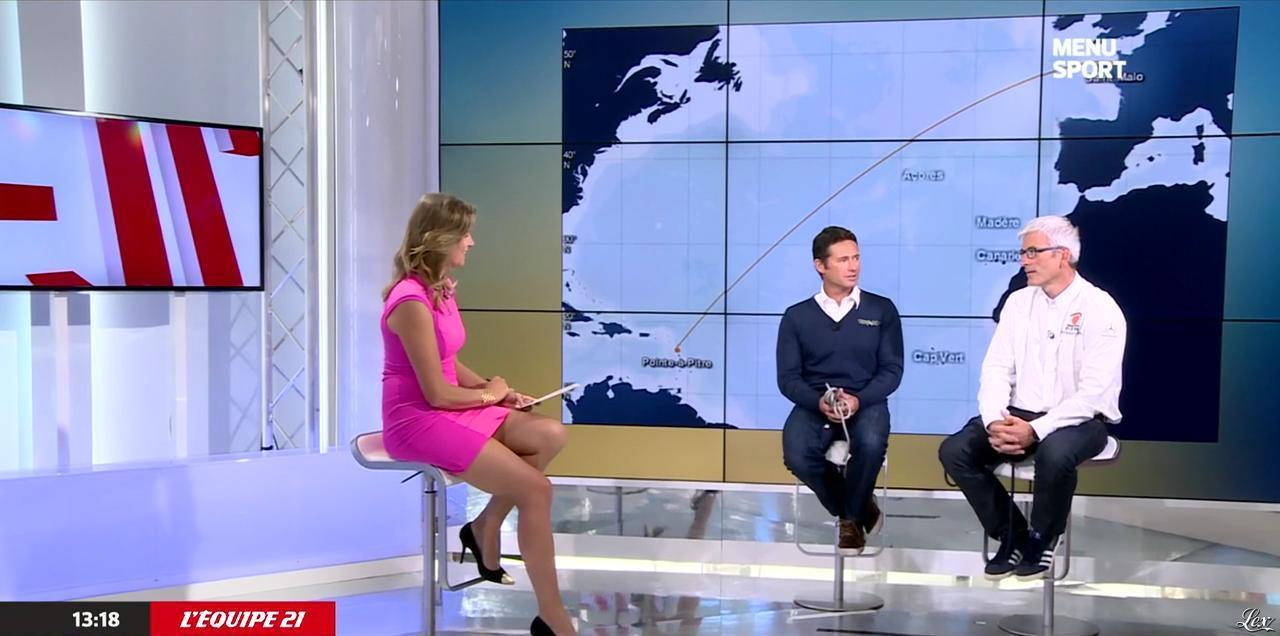 France Pierron dans Menu Sport. Diffusé à la télévision le 25/09/14.