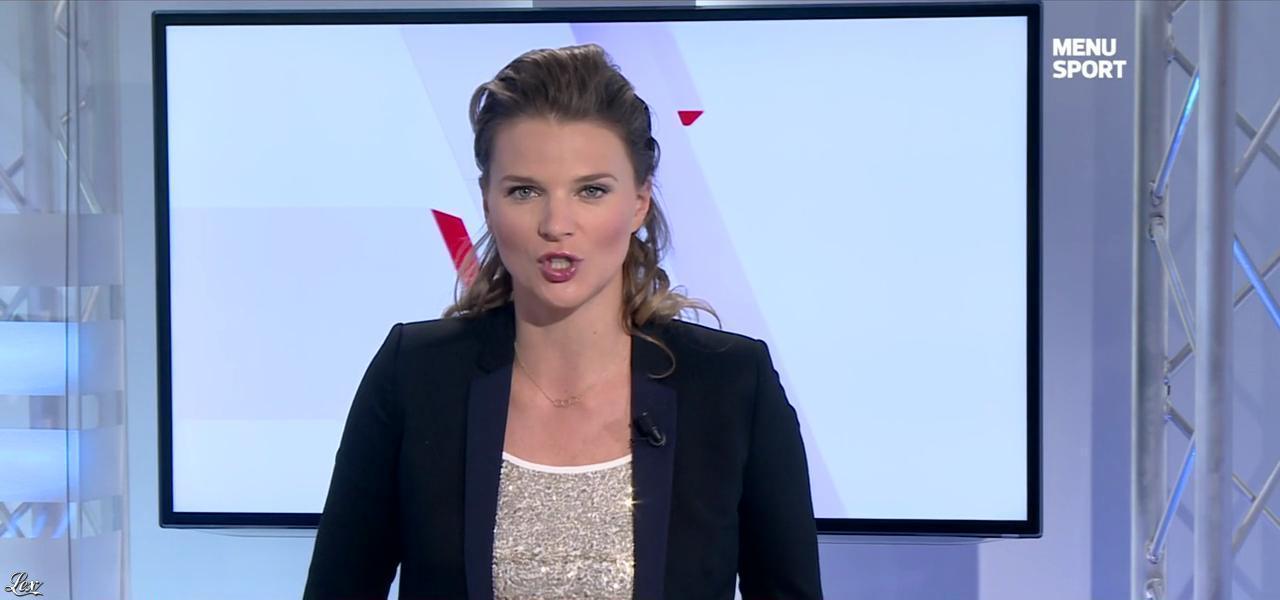 France Pierron dans Menu Sport. Diffusé à la télévision le 29/09/14.