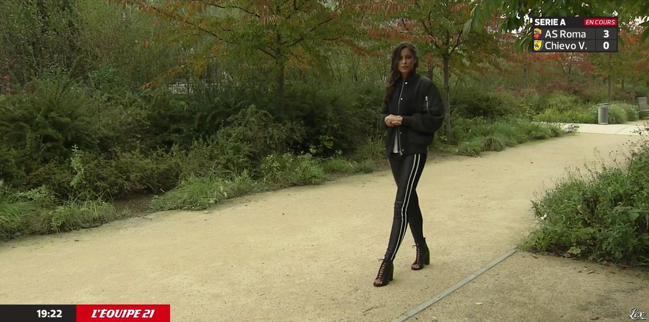 Malika Ménard dans l'Equipe 21. Diffusé à la télévision le 18/10/14.