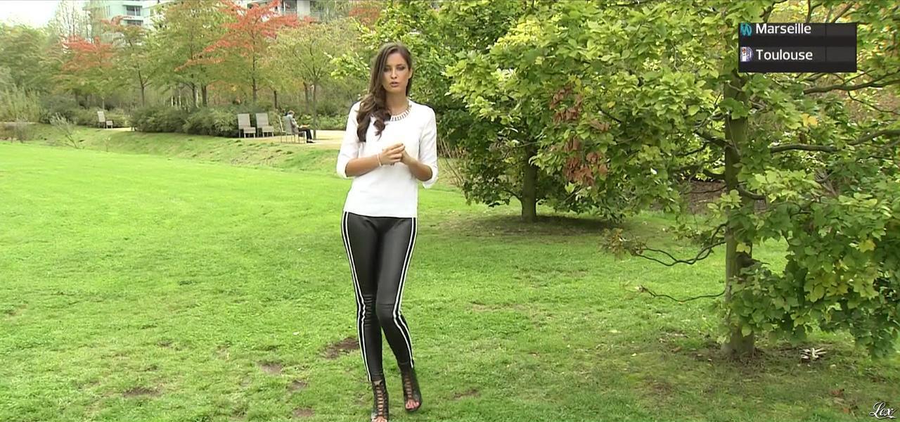 Malika Ménard dans l'Equipe 21. Diffusé à la télévision le 19/10/14.