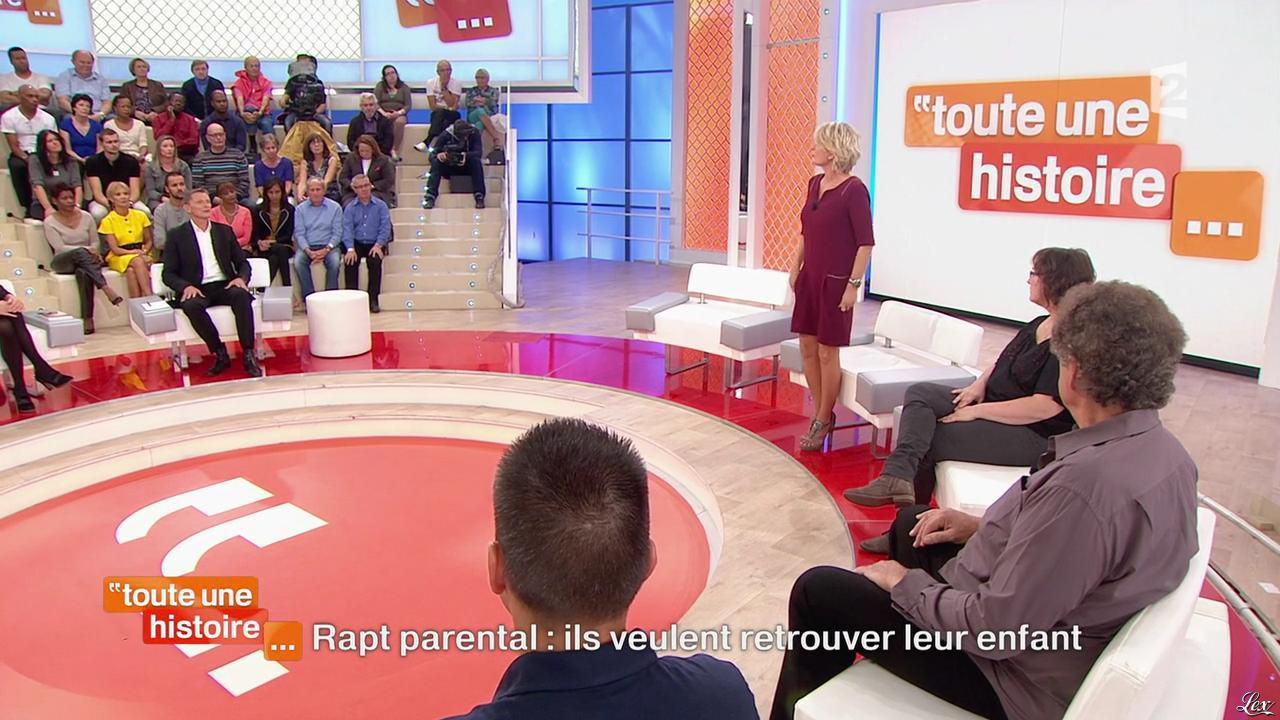 Sophie Davant dans Toute une Histoire. Diffusé à la télévision le 16/10/14.