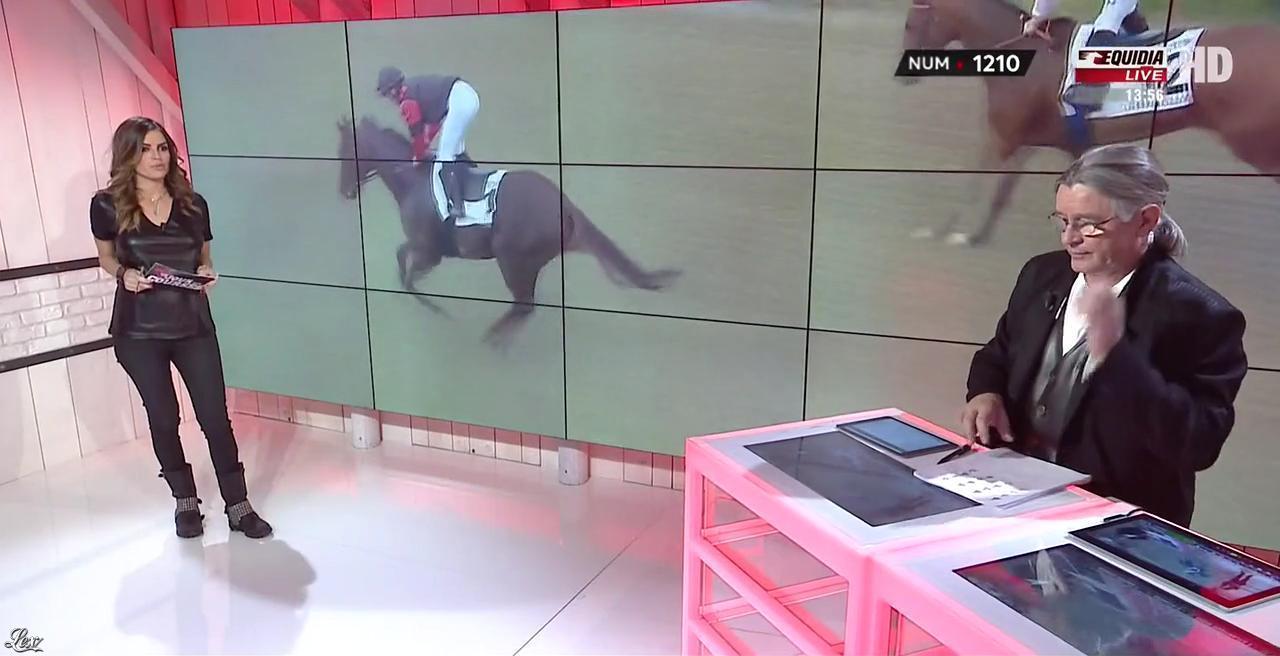 Amélie Bitoun dans un Jour aux Courses. Diffusé à la télévision le 22/11/16.