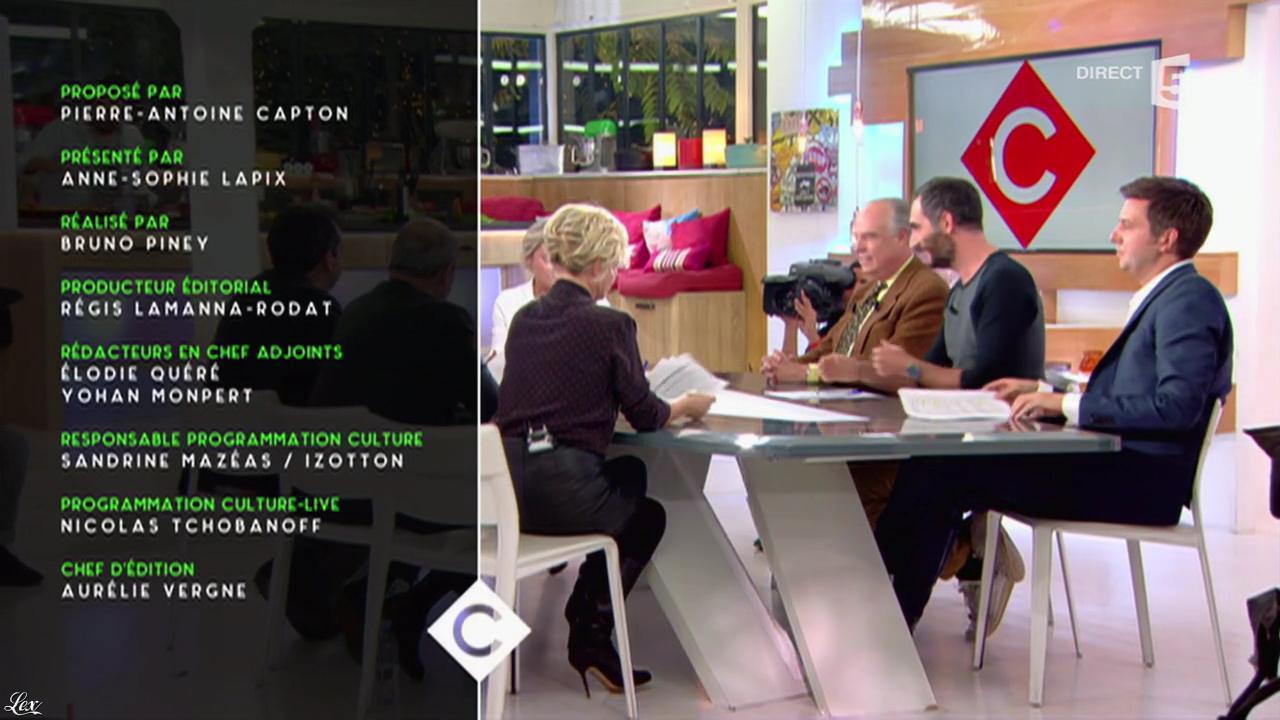 Anne-Elisabeth Lemoine dans C à Vous. Diffusé à la télévision le 03/11/16.
