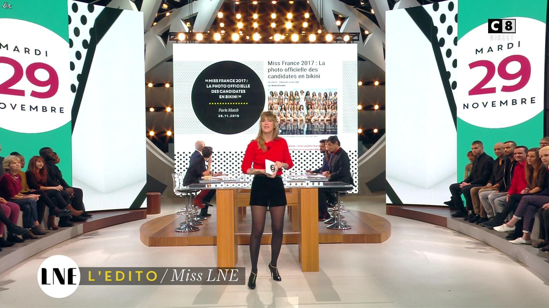 Daphné Burki dans la Nouvelle Edition. Diffusé à la télévision le 29/11/16.