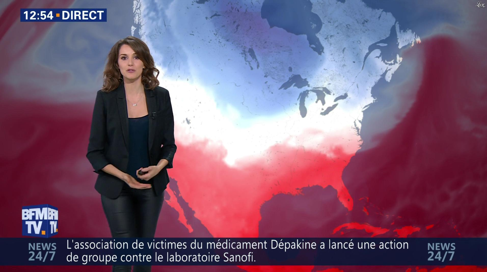 Fanny Agostini à la Météo de BFM TV. Diffusé à la télévision le 13/12/16.