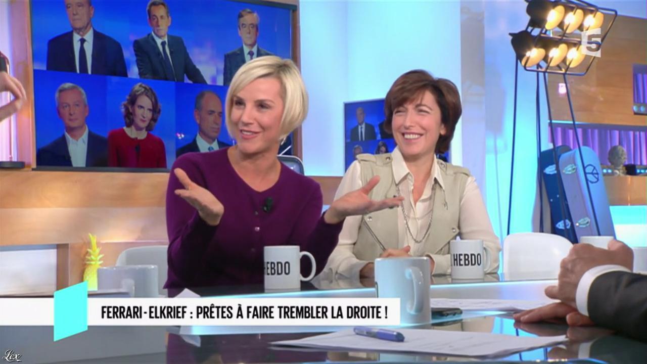 Laurence Ferrari dans C l'Hebdo. Diffusé à la télévision le 29/10/16.