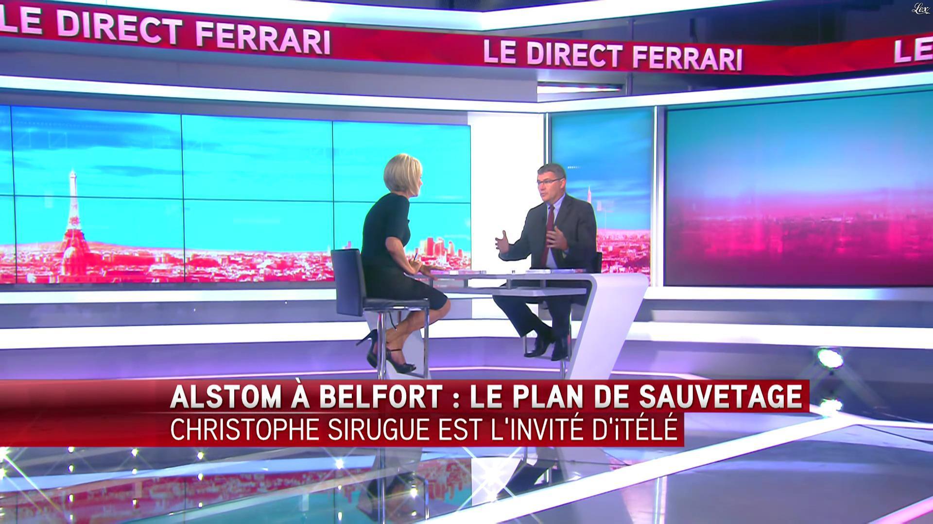 Laurence Ferrari dans le Direct Ferrari. Diffusé à la télévision le 04/10/16.