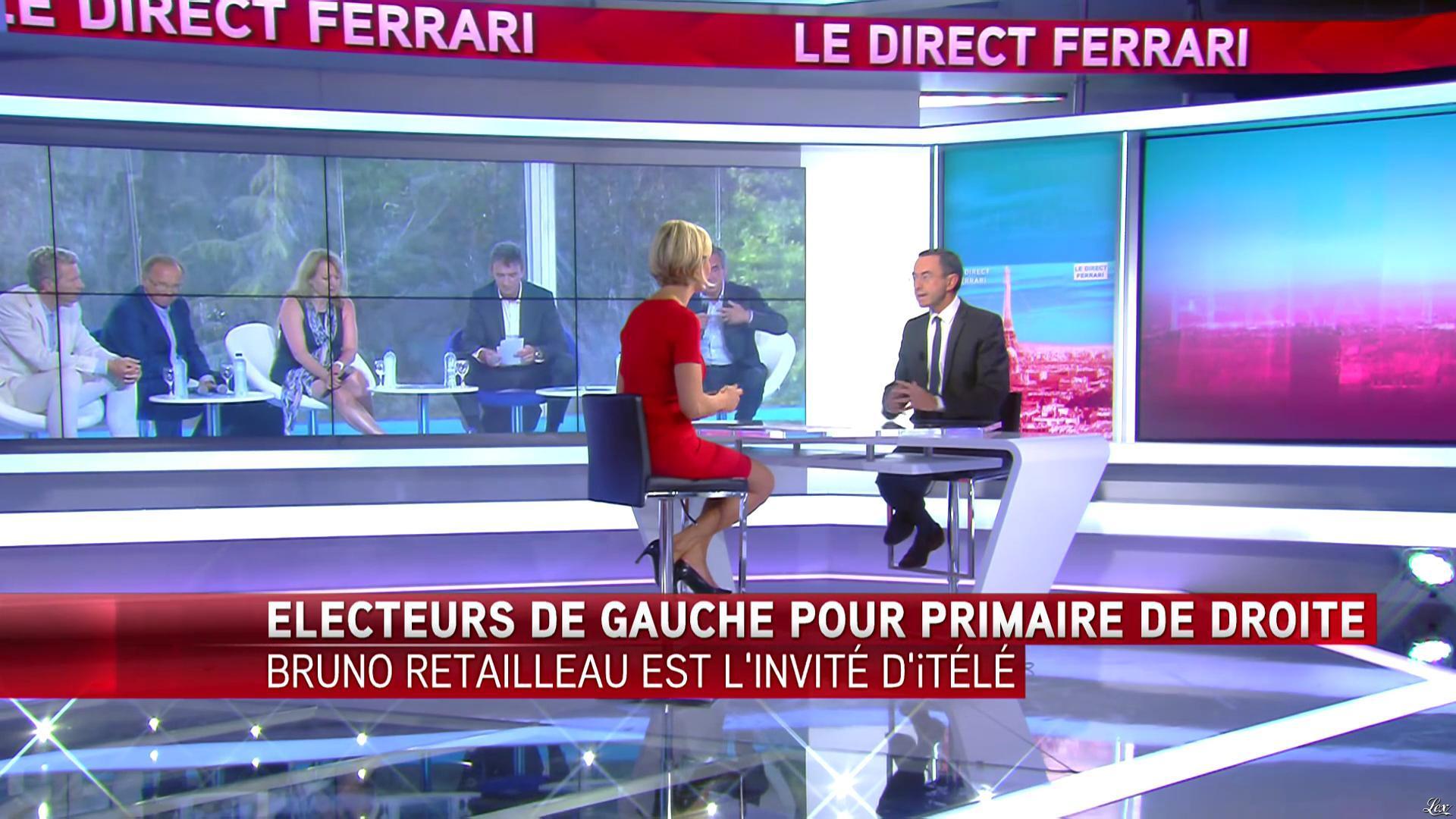 Laurence Ferrari dans le Direct Ferrari. Diffusé à la télévision le 05/10/16.