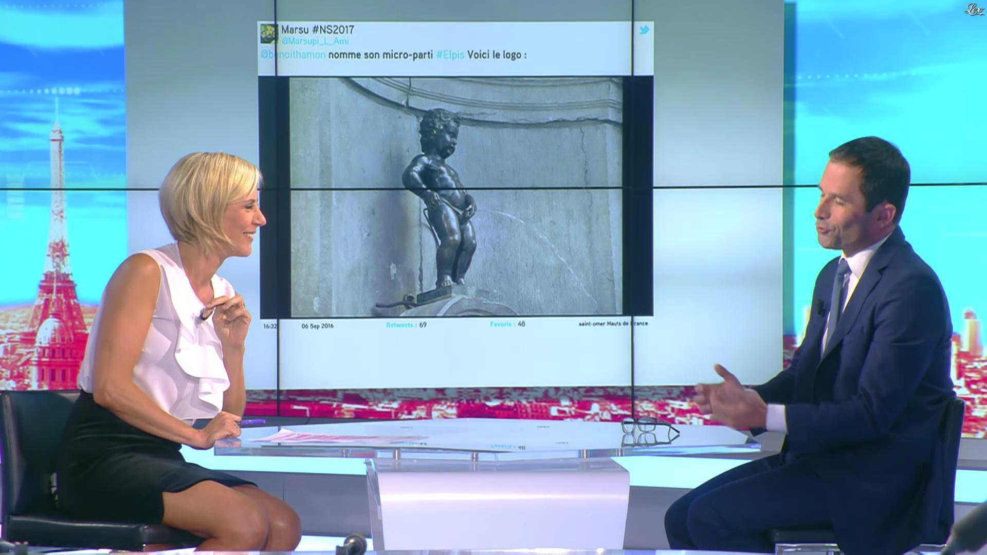 Laurence Ferrari dans le Direct Ferrari. Diffusé à la télévision le 08/09/16.