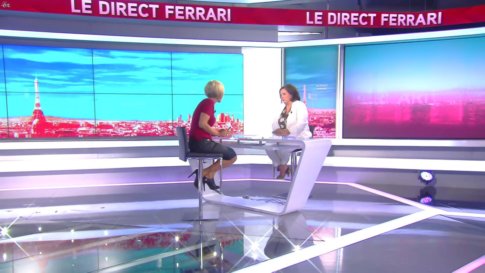 Laurence Ferrari dans le Direct Ferrari. Diffusé à la télévision le 13/09/16.