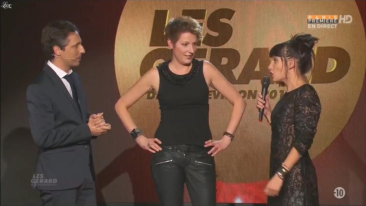 Natacha Polony et Erika Moulet lors des Gerard de la Télévision. Diffusé à la télévision le 30/05/16.