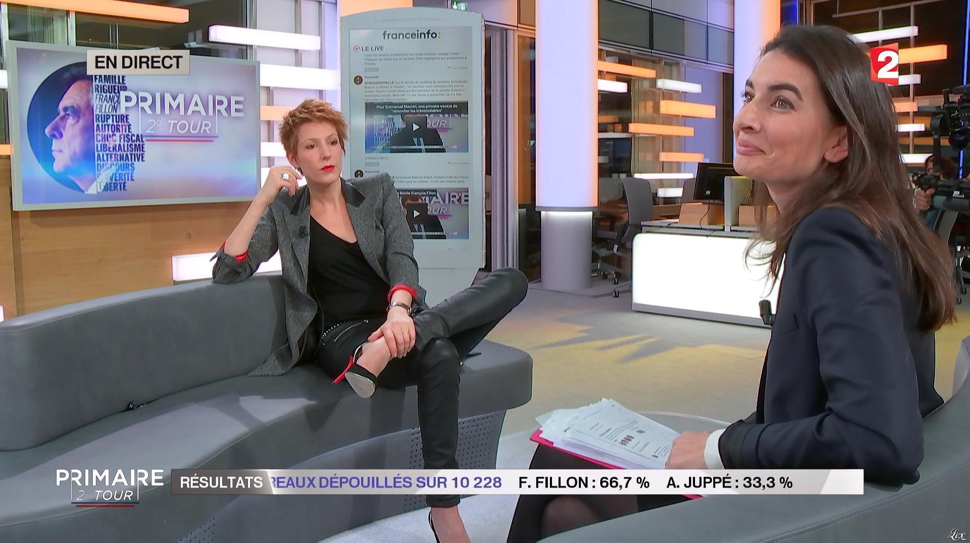 Natacha Polony lors du Second Tour des Primaires. Diffusé à la télévision le 27/11/16.