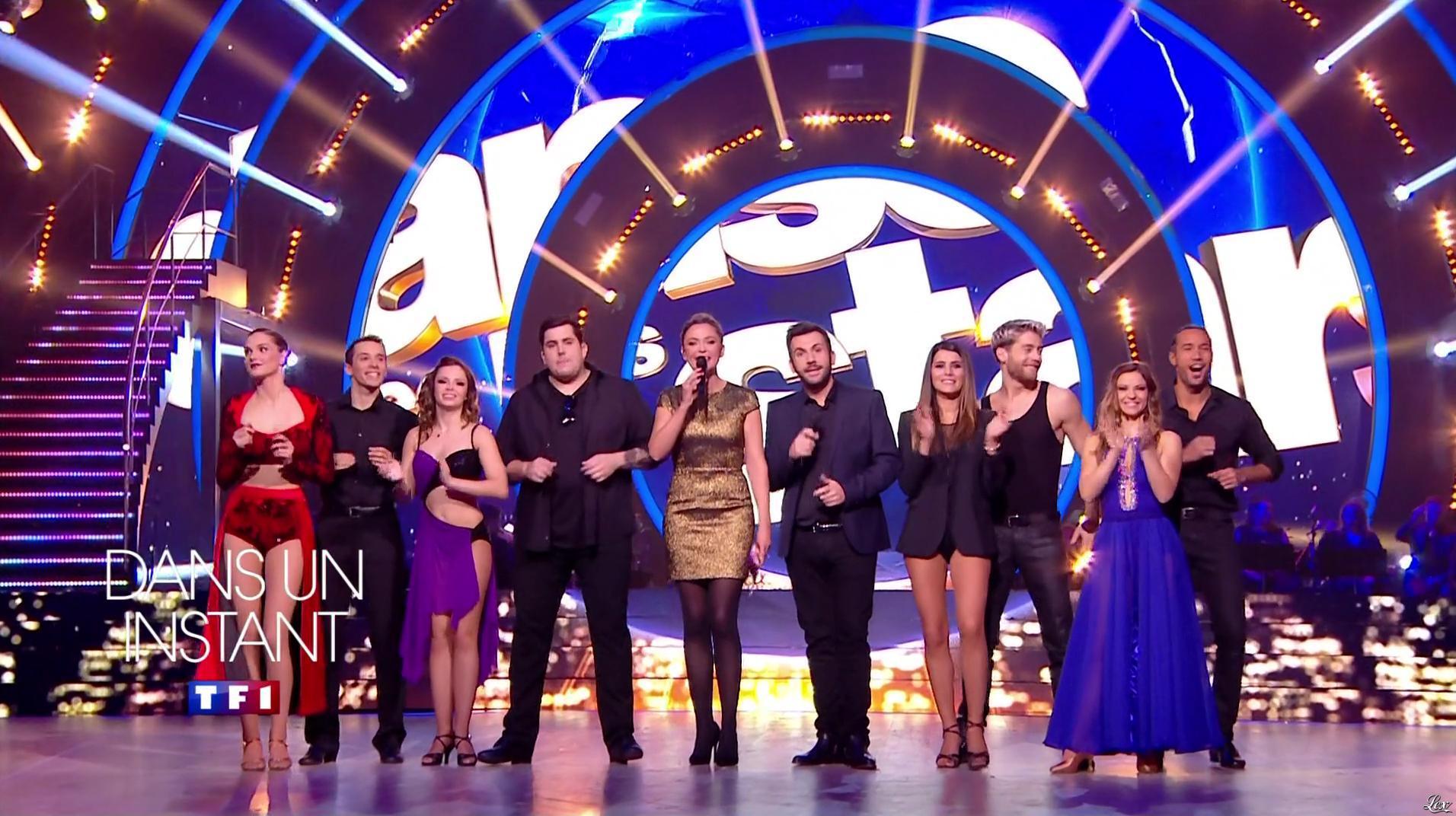 Sandrine Quétier, Camille Lou et Karine Ferri dans Danse avec les Stars. Diffusé à la télévision le 10/12/16.