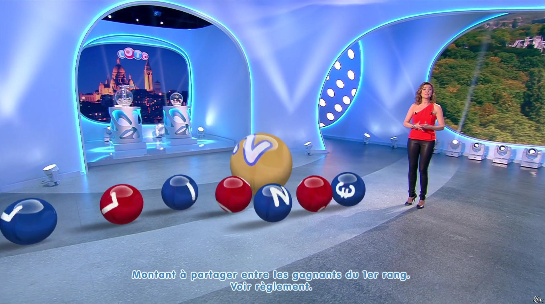 Sandrine Quétier lors du Tirage du Loto. Diffusé à la télévision le 12/12/16.