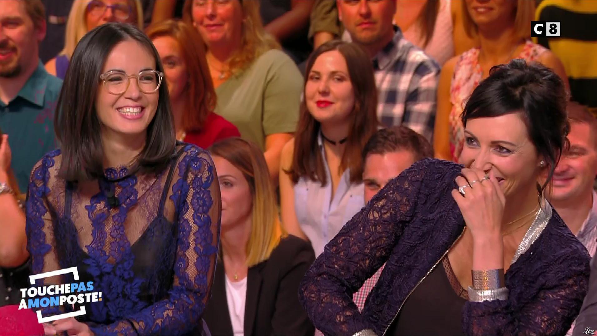 Agathe Auproux dans Touche pas à mon Poste. Diffusé à la télévision le 27/09/17.