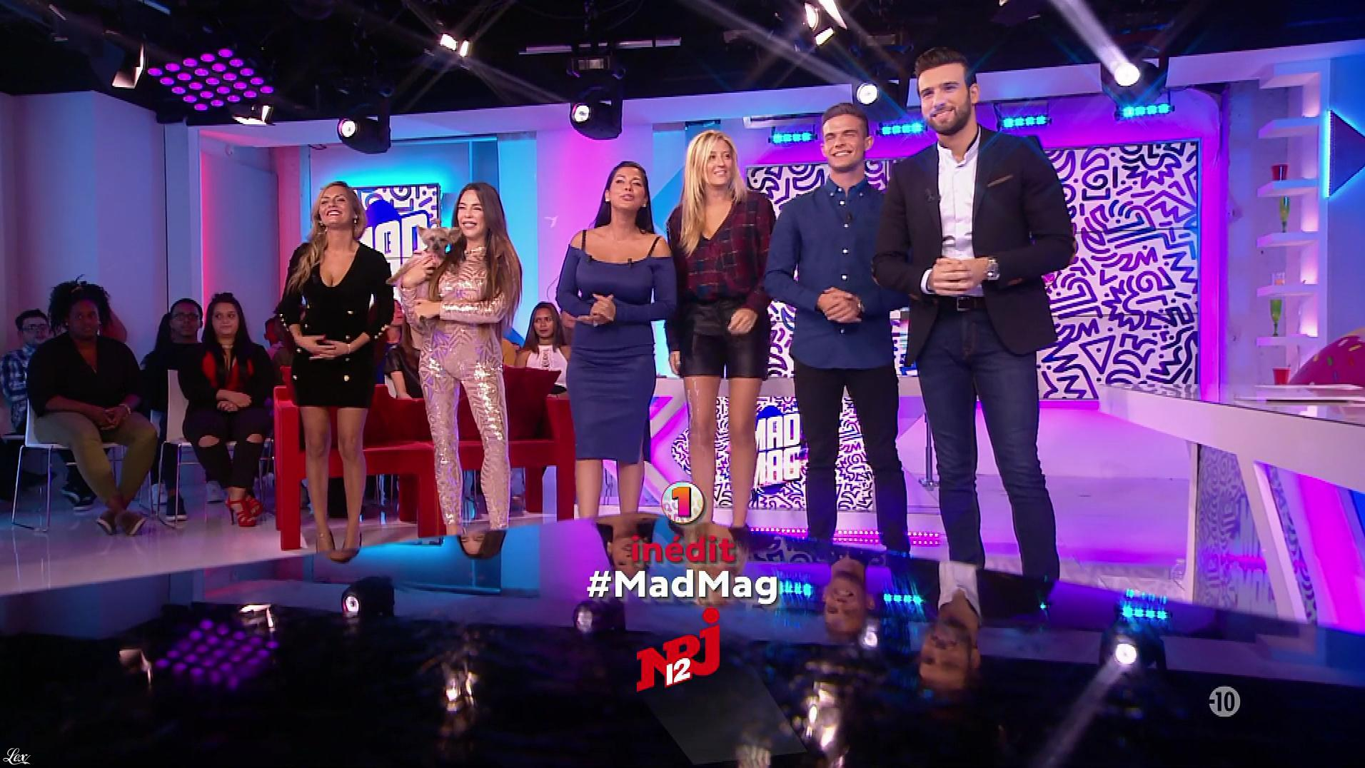 Ayem Nour, Emilie Picch et Kim Glow dans le Mad Mag. Diffusé à la télévision le 04/10/17.