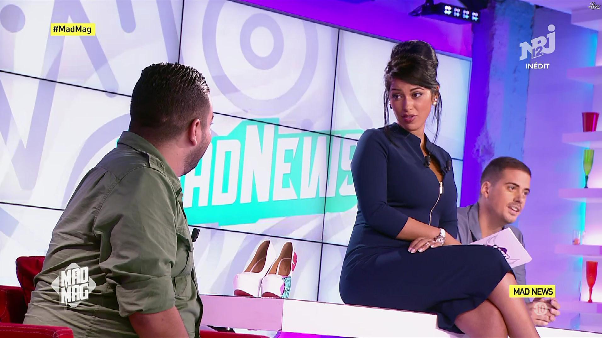 Ayem Nour dans le Mad Mag. Diffusé à la télévision le 30/08/17.