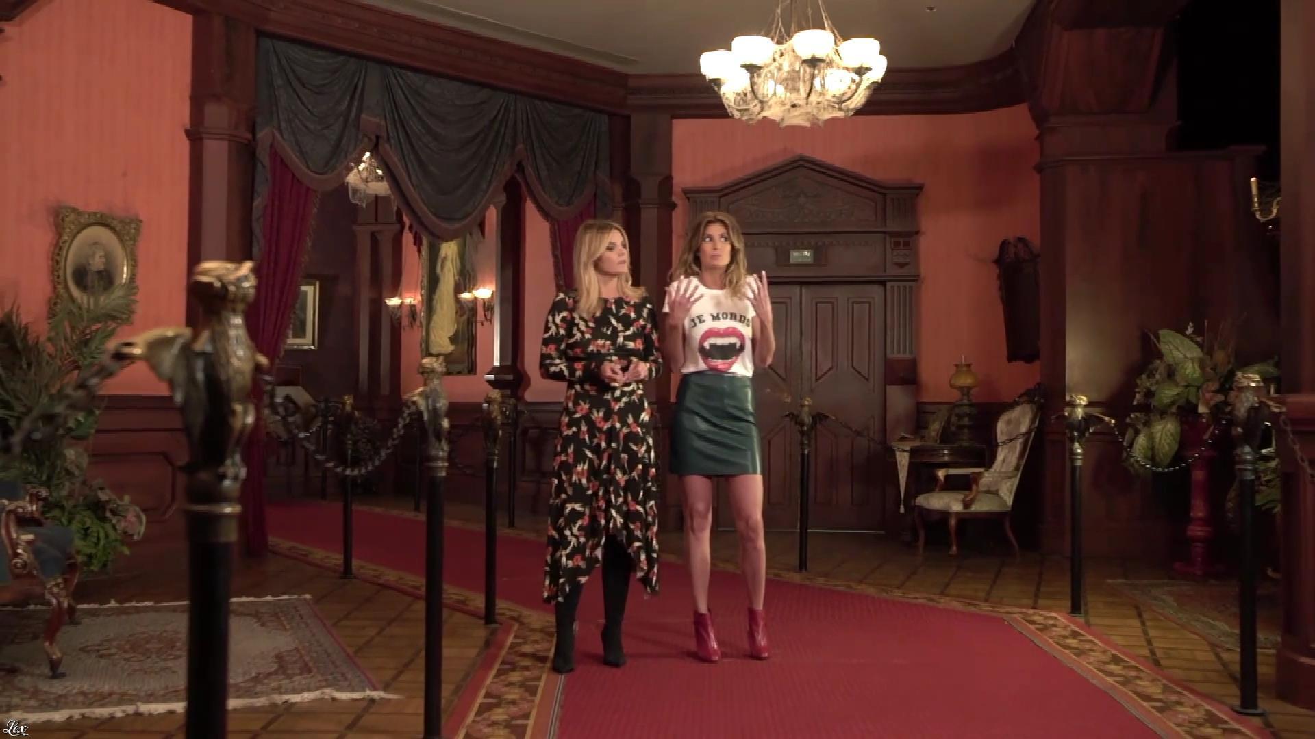 Caroline Ithurbide et Justine Fraioli dans une Bande-Annonce du Grand Bêtisier de Halloween. Diffusé à la télévision le 26/10/17.