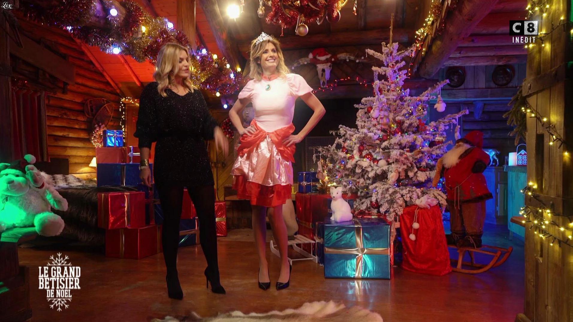 Caroline Ithurbide et Justine Fraioli dans le Grand Bêtisier de Noel. Diffusé à la télévision le 18/12/17.