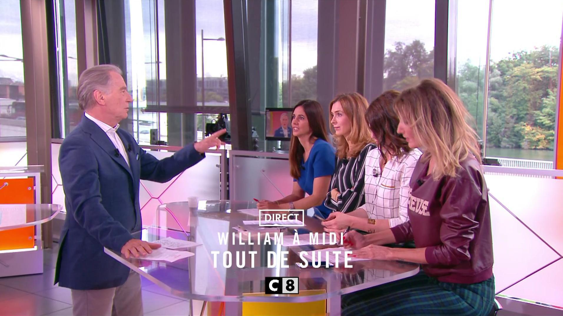 Caroline Ithurbide, Véronique Mounier et Julia Molkhou dans William à Midi. Diffusé à la télévision le 28/09/17.