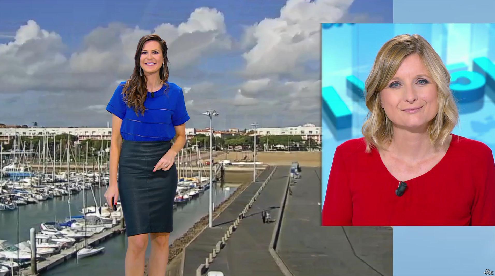 Daniela Prepeliuc à la Météo de BFM TV. Diffusé à la télévision le 19/10/17.