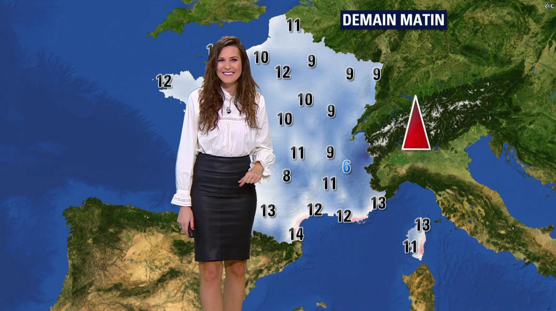 Daniela Prepeliuc à la Météo de BFM TV. Diffusé à la télévision le 26/10/17.