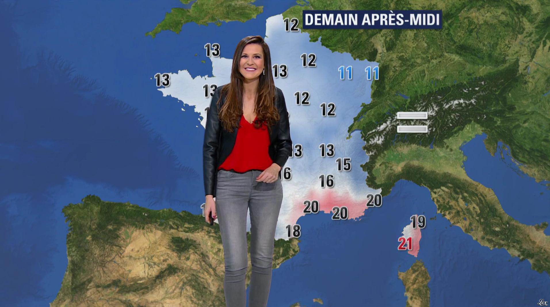 Daniela Prepeliuc à la Météo de BFM TV. Diffusé à la télévision le 30/10/17.