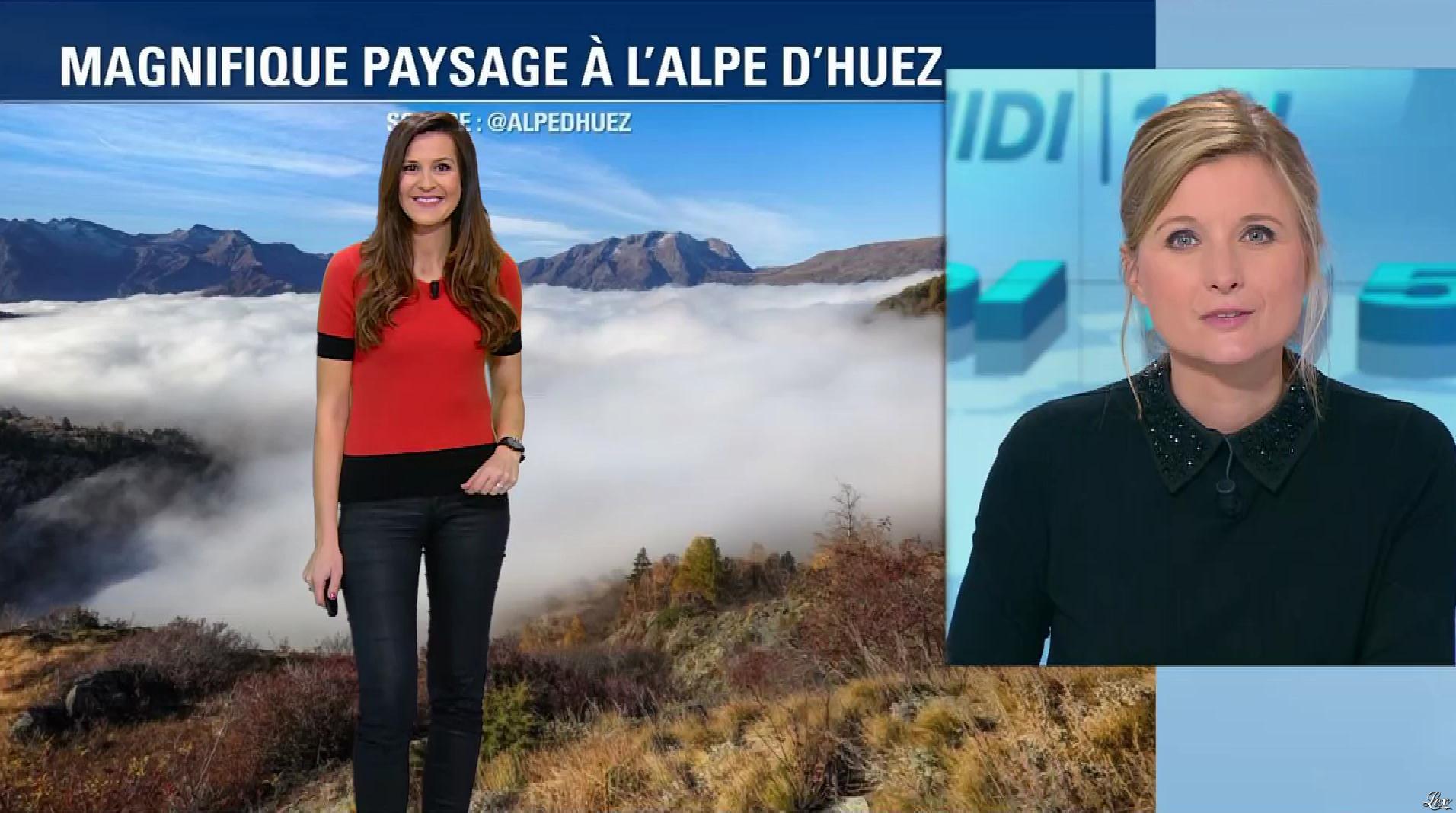 Daniela Prepeliuc à la Météo de BFM TV. Diffusé à la télévision le 31/10/17.