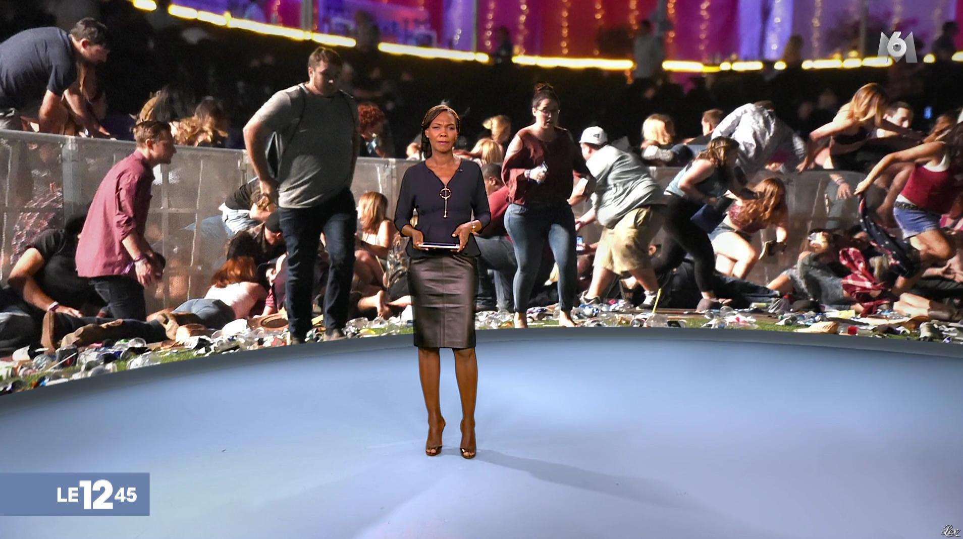 Kareen Guiock dans le 12-45. Diffusé à la télévision le 02/10/17.