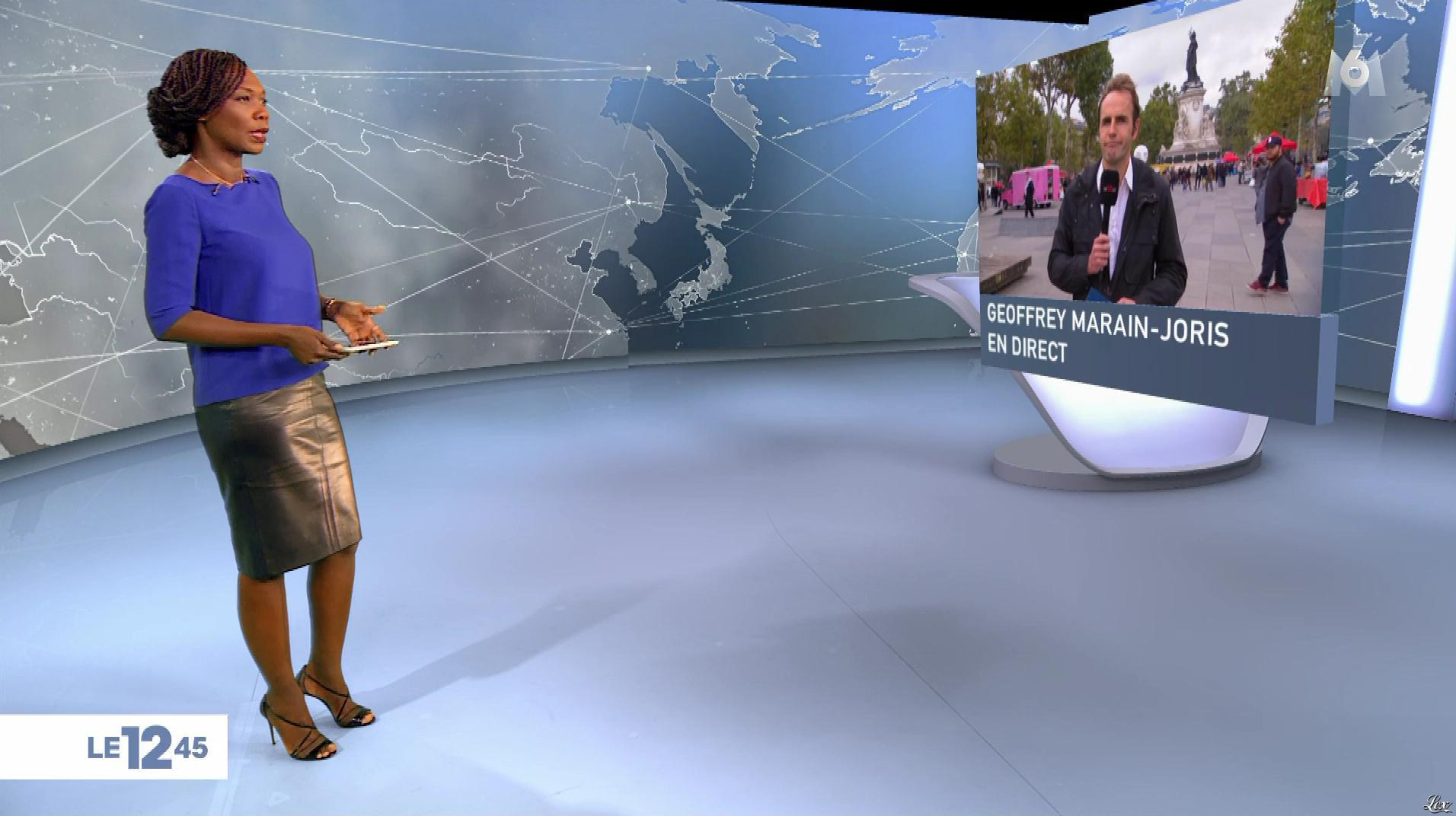Kareen Guiock dans le 12-45. Diffusé à la télévision le 10/10/17.
