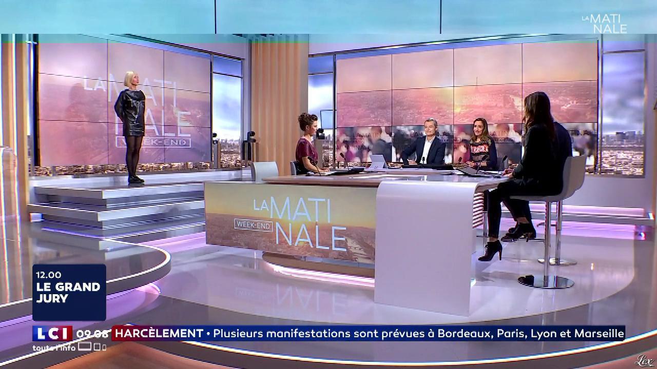 Karine Fauvet à la Météo de LCI. Diffusé à la télévision le 23/09/17.