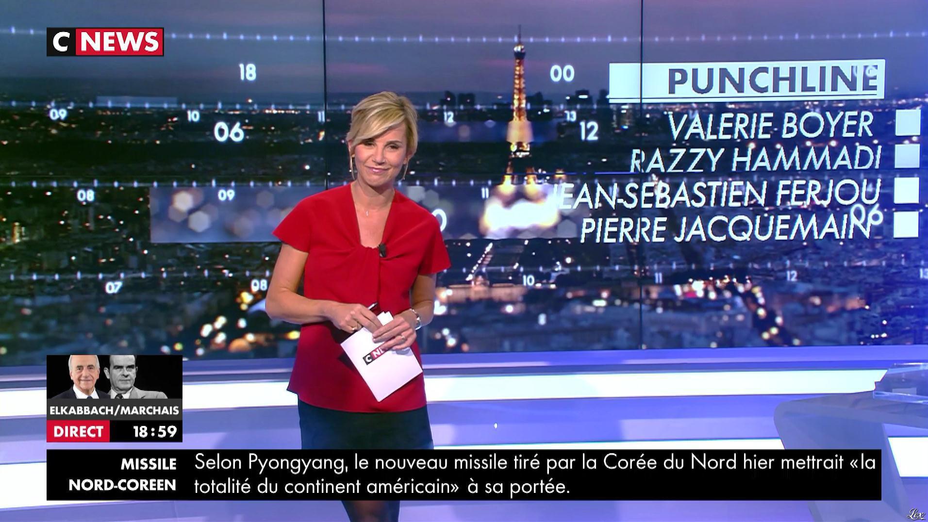 Laurence Ferrari dans Punchline. Diffusé à la télévision le 29/11/17.