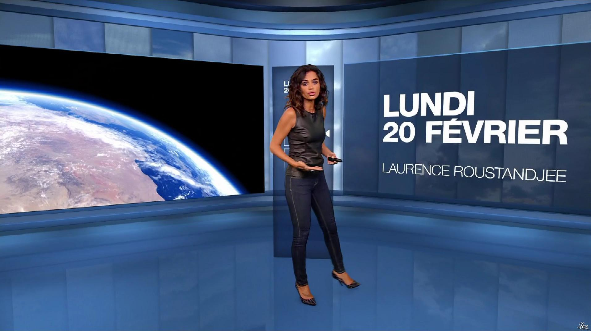 Laurence Roustandjee à la Météo de M6. Diffusé à la télévision le 20/02/17.