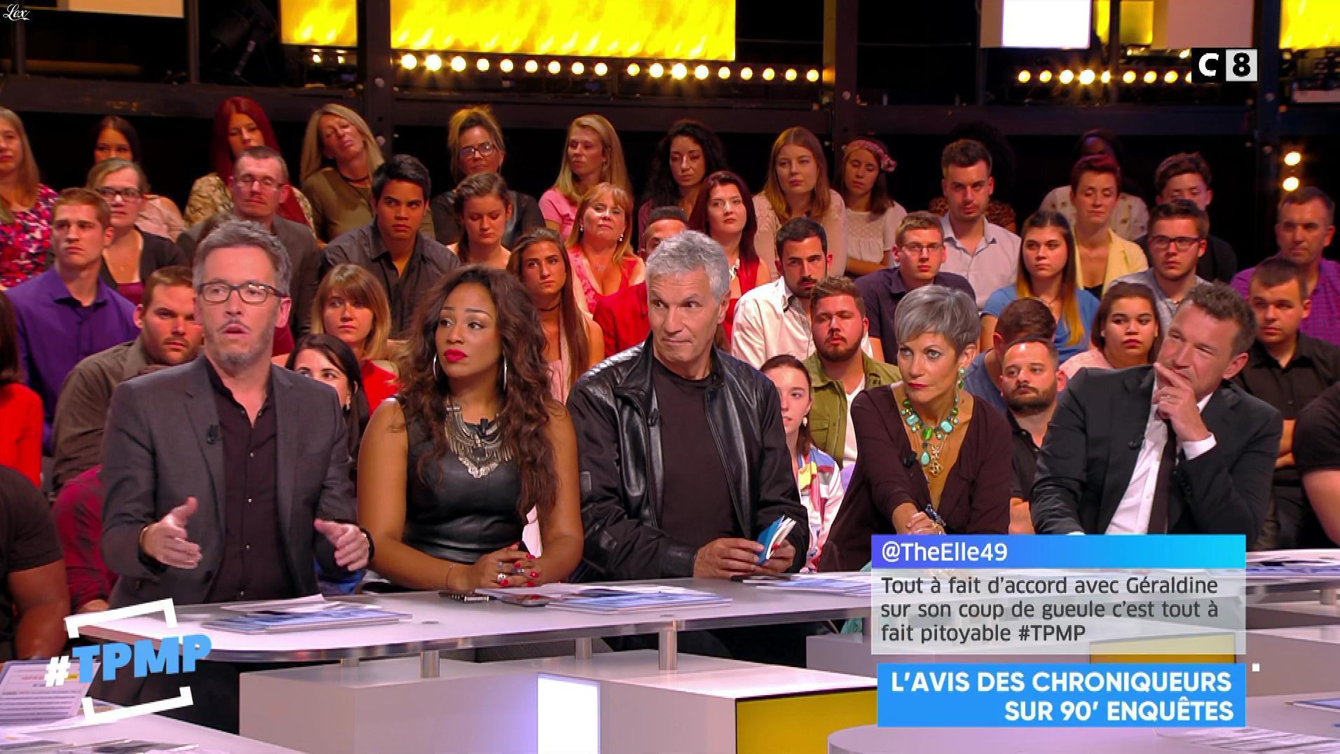 Ludivine Retory dans Touche pas à mon Poste. Diffusé à la télévision le 27/09/17.