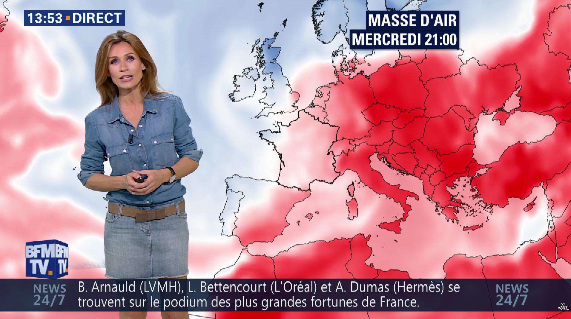 Sandra Larue à la Météo de BFM TV. Diffusé à la télévision le 28/06/17.