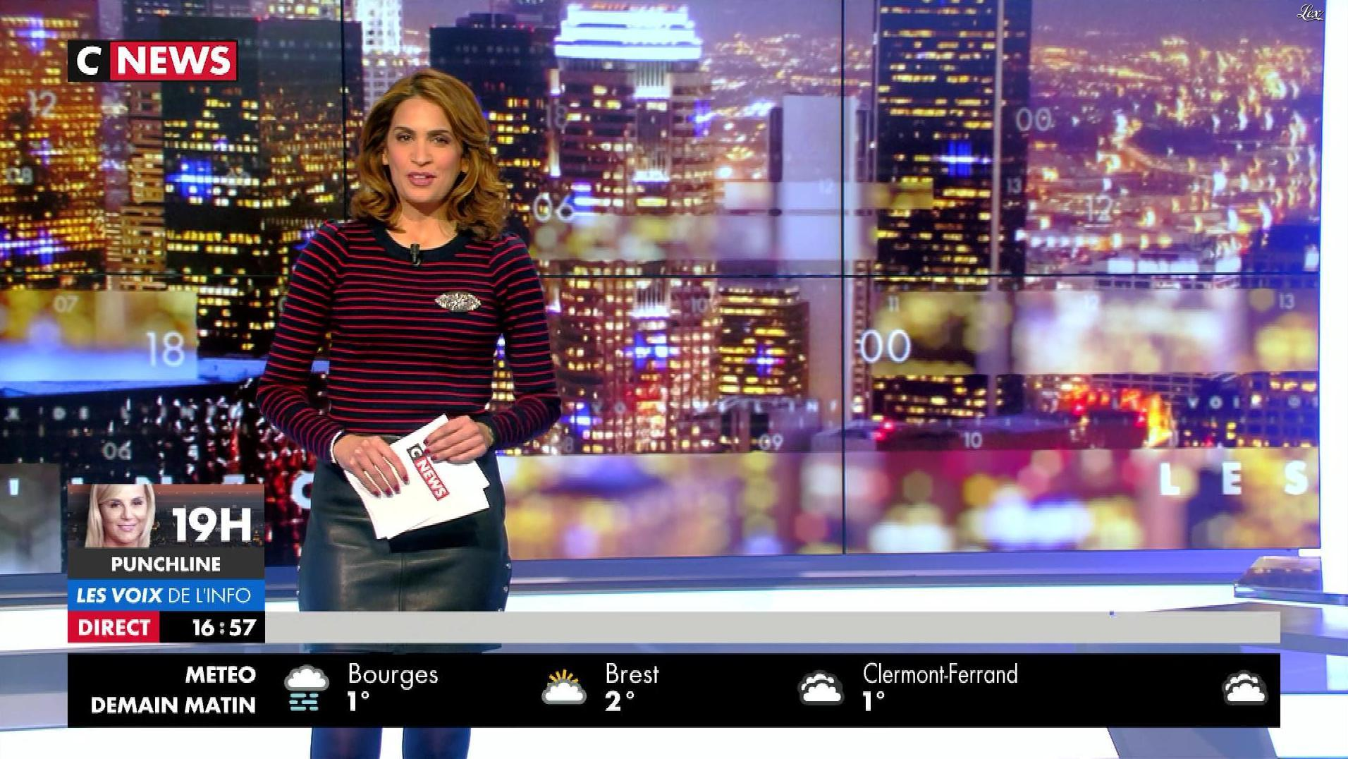 Sonia Mabrouk dans les Voix de l'Info. Diffusé à la télévision le 18/12/17.