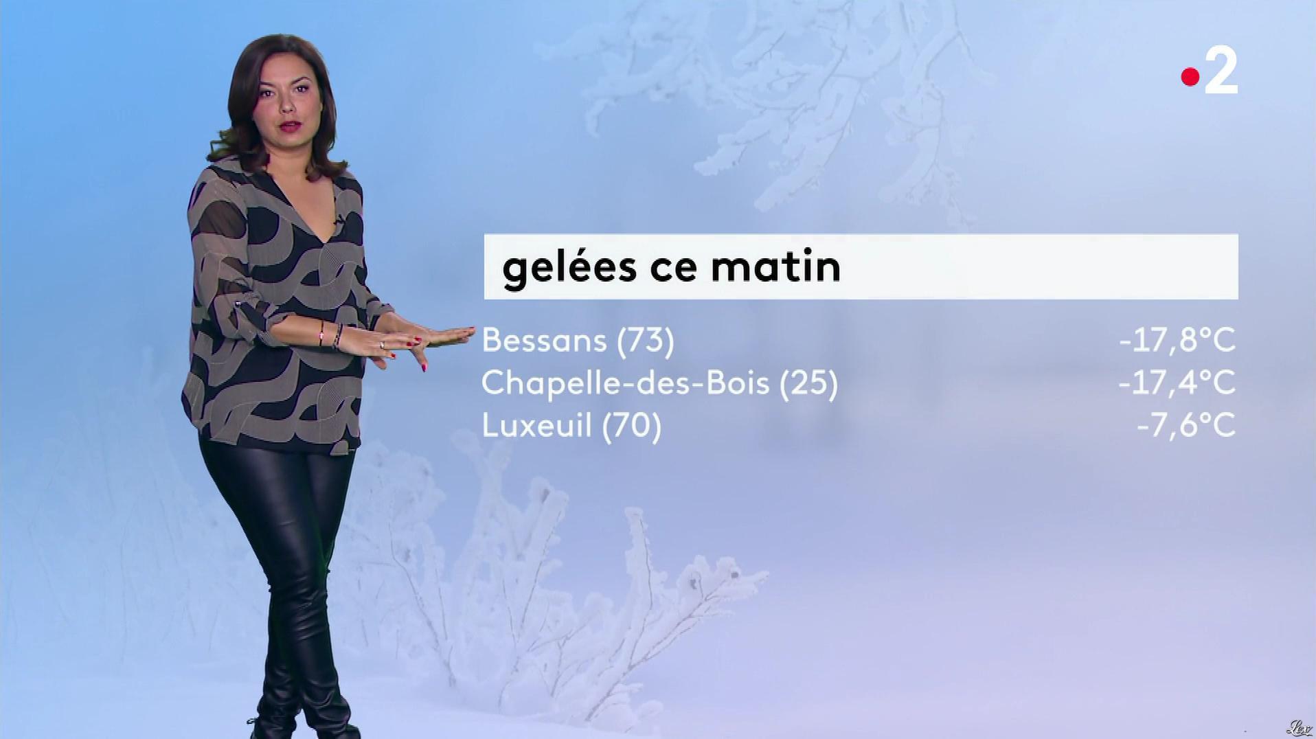 Anais Baydemir à la Météo de Midi. Diffusé à la télévision le 13/12/18.