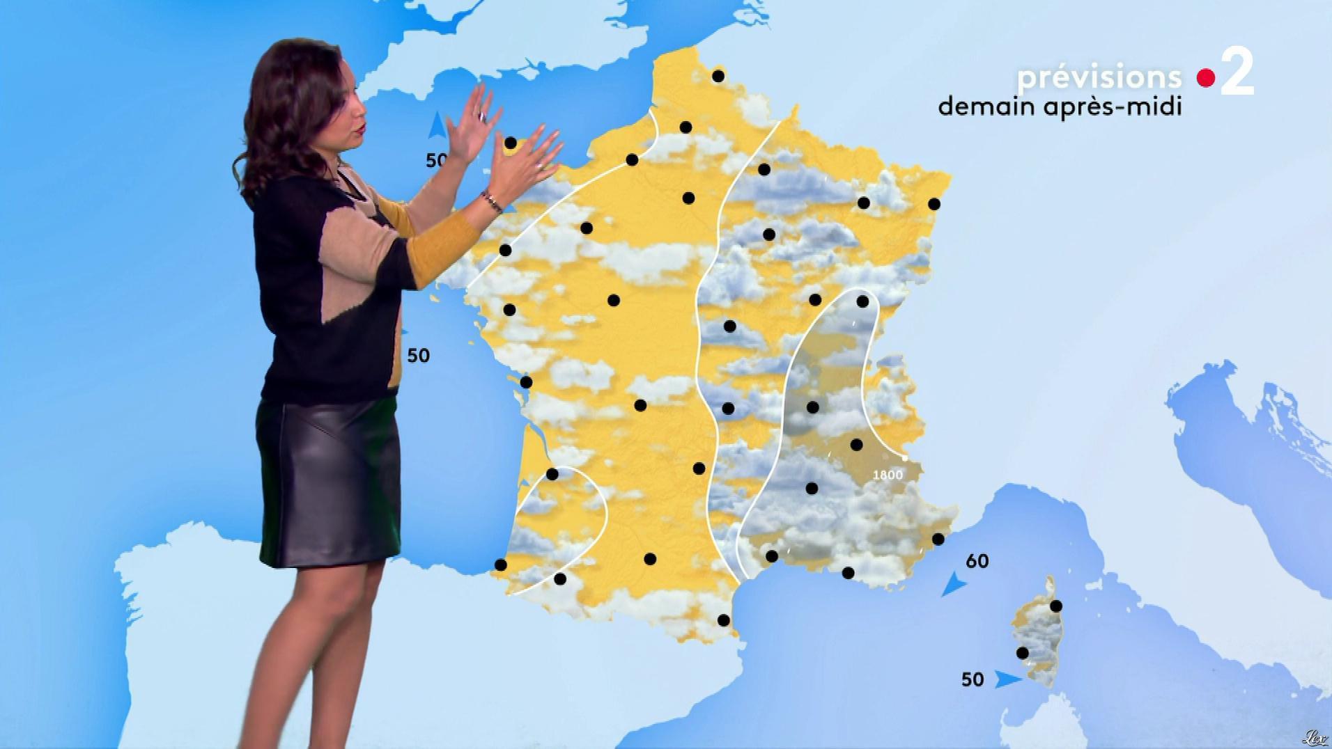 Anaïs Baydemir à la Météo de Midi. Diffusé à la télévision le 20/11/18.
