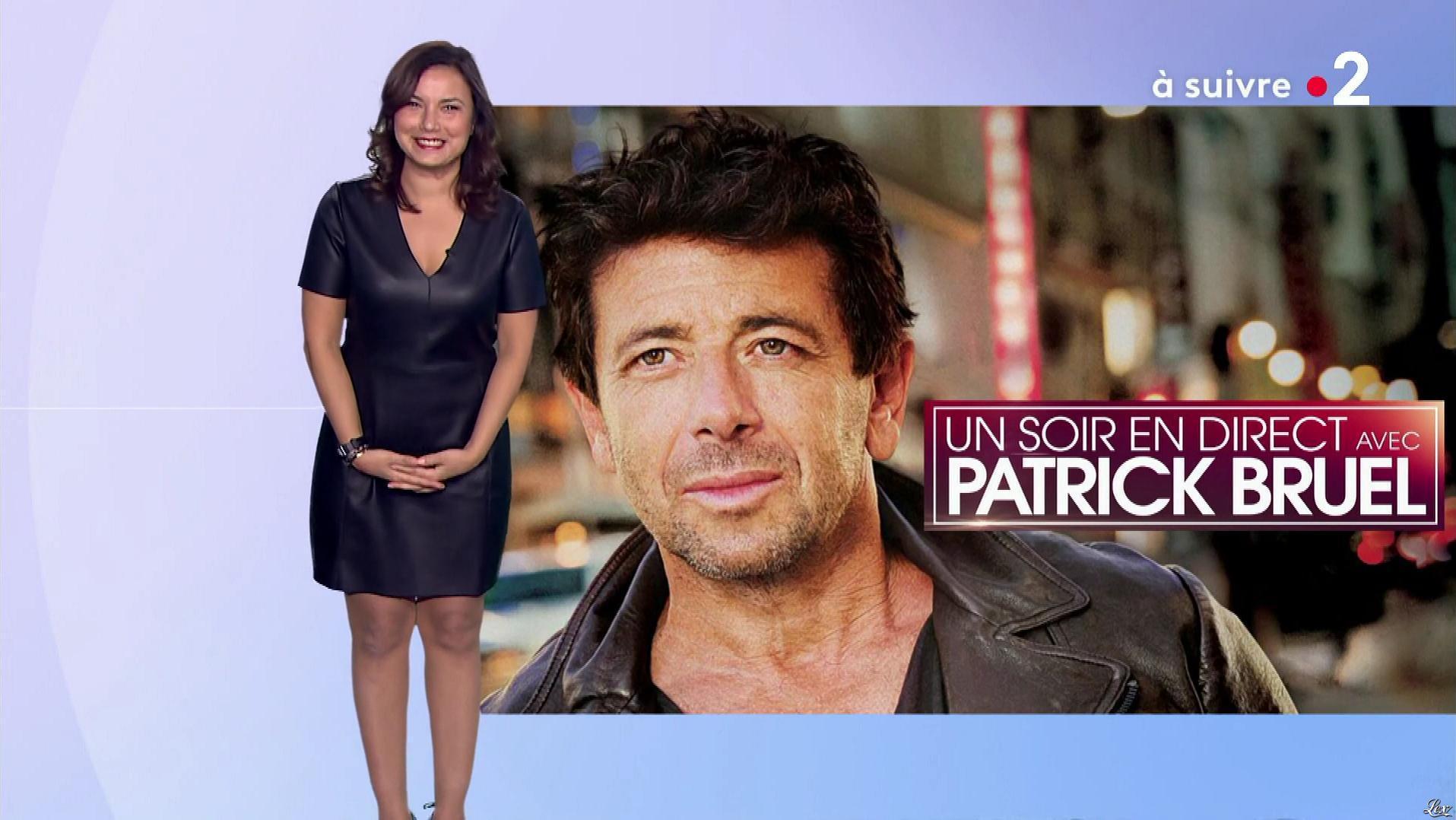 Anaïs Baydemir à la Météo du Soir. Diffusé à la télévision le 03/11/18.