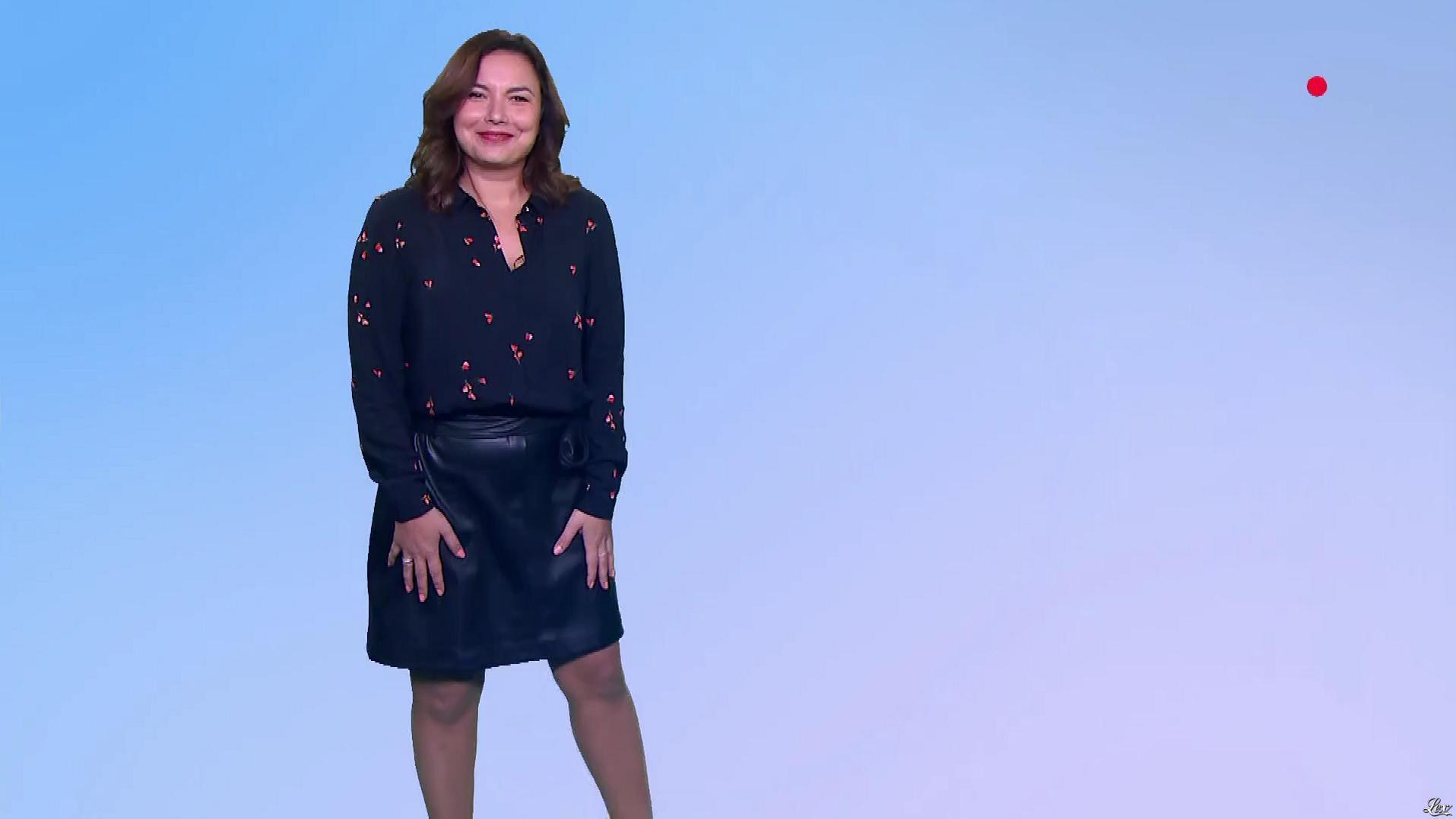 Anaïs Baydemir à la Météo du Soir. Diffusé à la télévision le 04/11/18.