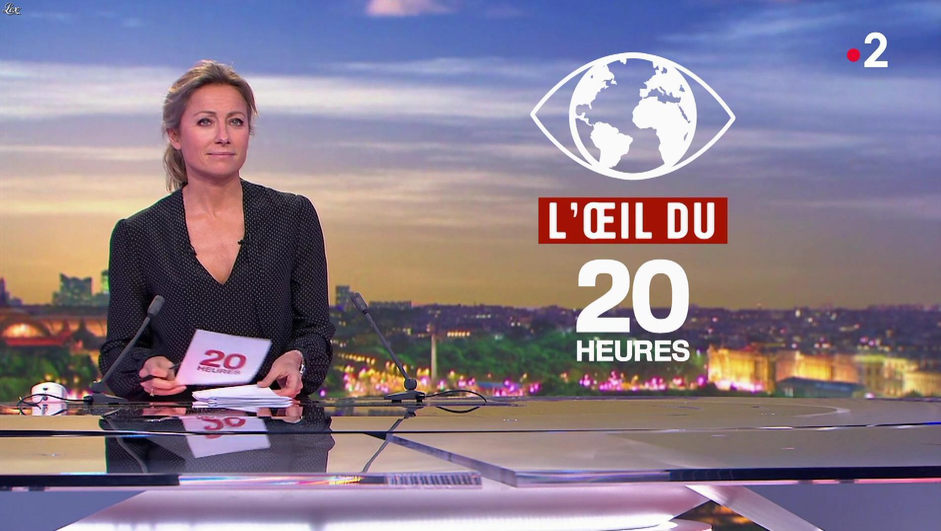 Anne-Sophie Lapix dans le 20h. Diffusé à la télévision le 22/11/18.