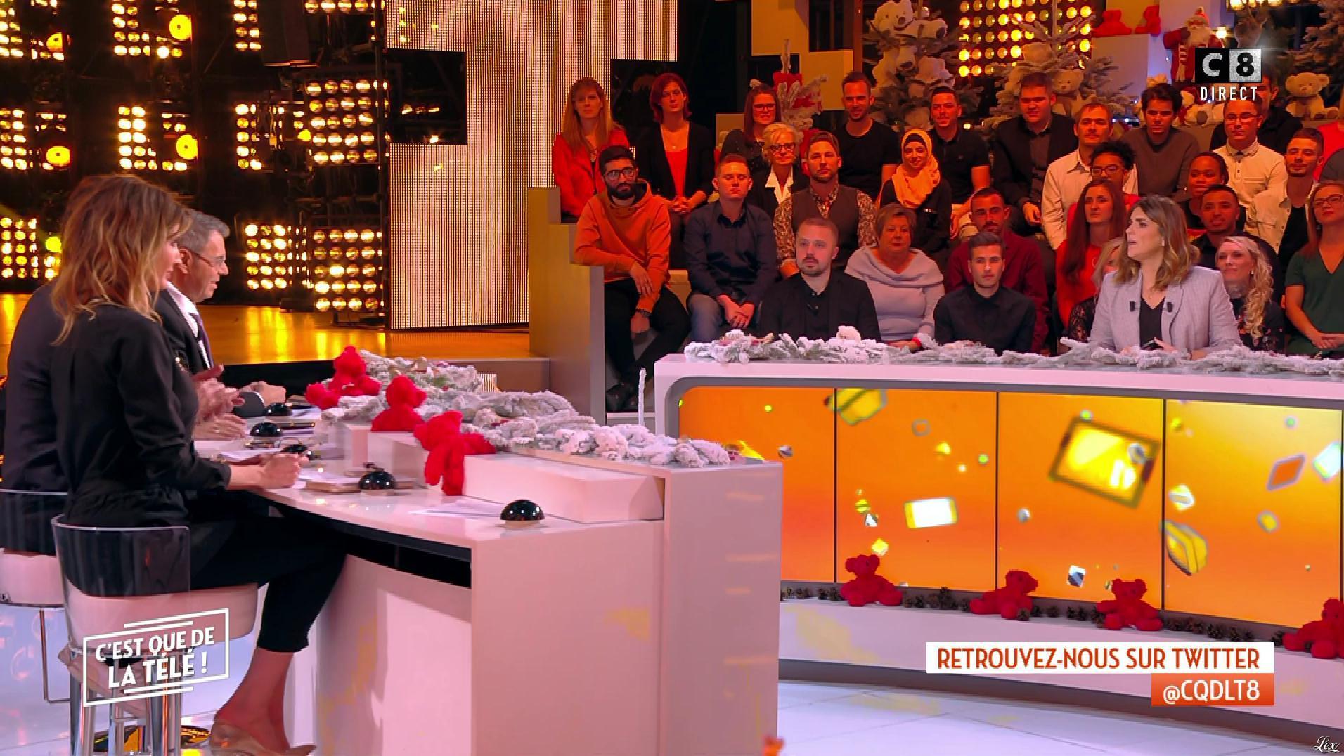 Caroline Ithurbide dans c'est Que de la Télé. Diffusé à la télévision le 12/12/18.